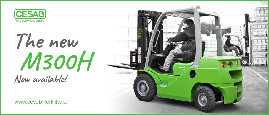 The new cesab M300H hydrostatic forklift